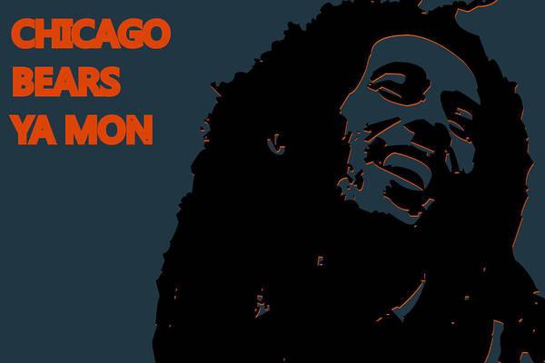 Drum Player Wall Art - Photograph - Chicago Bears Ya Mon by Joe Hamilton