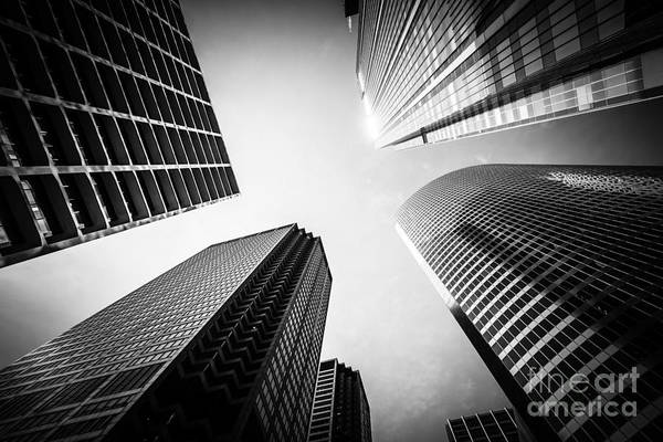 Between Photograph - Chicago Black And White Architecture by Paul Velgos