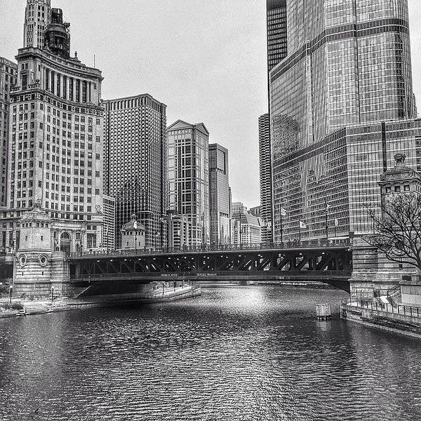 Blackandwhite Wall Art - Photograph - #chicago #blackandwhite #urban by Paul Velgos