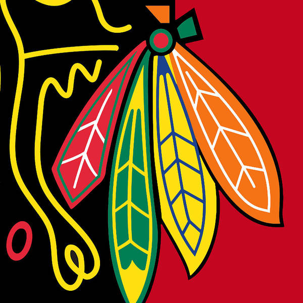 Painting - Chicago Blackhawks 2 by Tony Rubino
