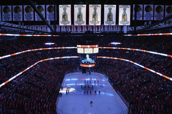 Wall Art - Photograph - Chicago Blackhawks Please Stand Up by Thomas Woolworth