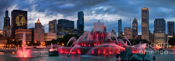 Chicago Skyline Photograph - Chicago Blackhawks Skyline by Jeff Lewis
