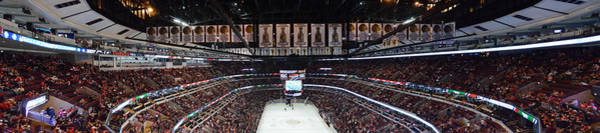 Wall Art - Photograph - Chicago Blackhawks United Center Panorama 03 by Thomas Woolworth