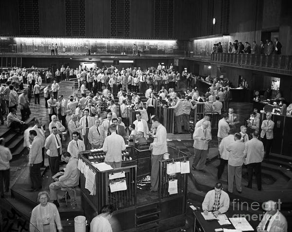 Chicago Board Of Trade 1957 Art Print