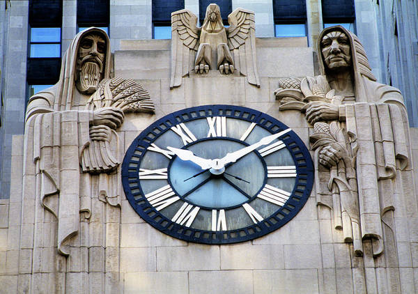 Illinois Art Photograph - Chicago Board Of Trade Building Clock by Panoramic Images