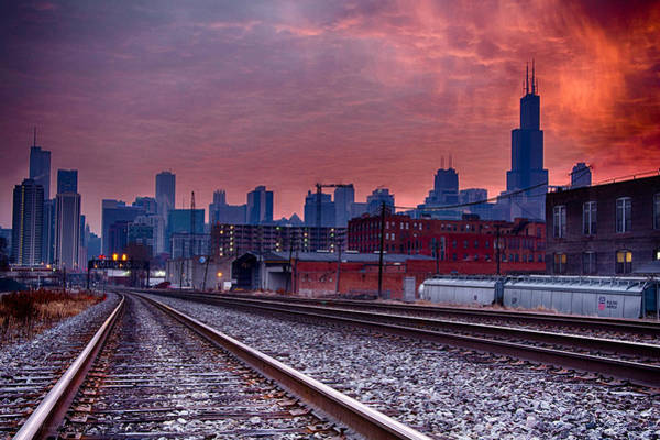 Photograph - Chicago Bound 12-2-13 Sunrise  by Michael  Bennett