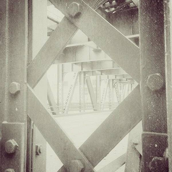 Landmark Wall Art - Photograph - Chicago Bridge Ironwork Vintage Photo by Paul Velgos