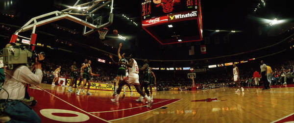 Chicago Bulls Photograph - Chicago Bulls Player Playing by Panoramic Images