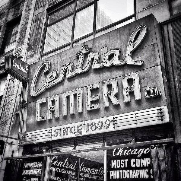 Building Wall Art - Photograph - Chicago Central Camera Sign Picture by Paul Velgos