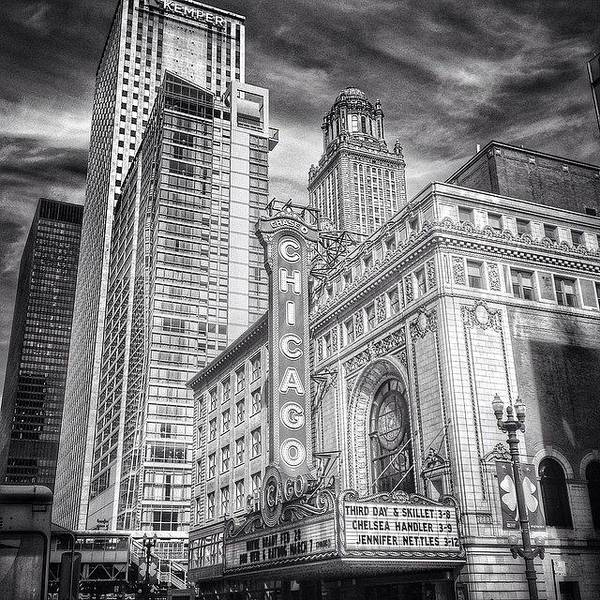Blackandwhite Wall Art - Photograph - #chicago #chicagogram #chicagotheatre by Paul Velgos