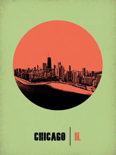 Chicago Digital Art - Chicago Circle Poster 1 by Naxart Studio