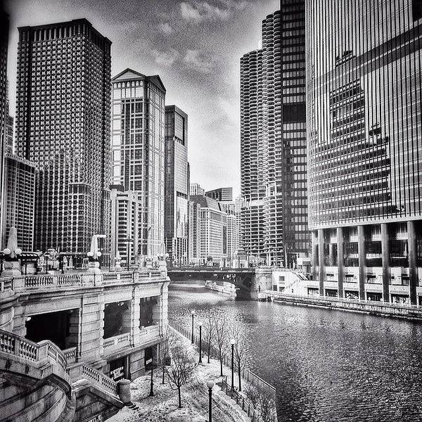 City Scenes Wall Art - Photograph - #chicago #cityscape #chicagoriver by Paul Velgos