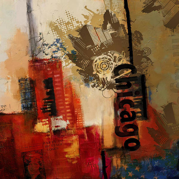 Las Vegas Nevada Painting - Chicago Collage Alternative by Corporate Art Task Force