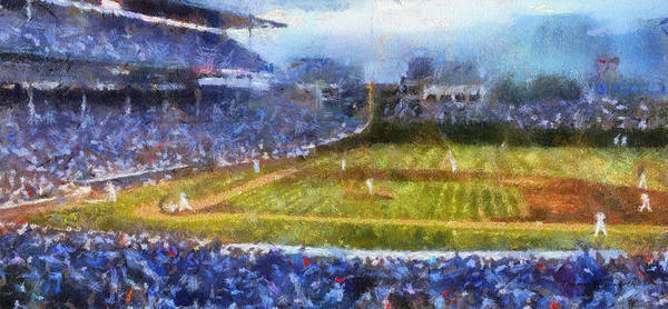 Jon Lester Photograph - Chicago Cubs At Bat Photo Art by Thomas Woolworth