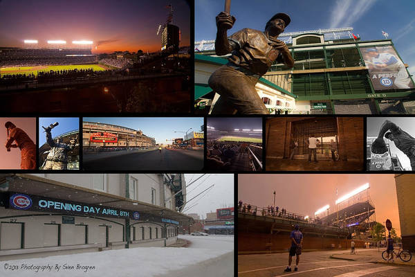Photograph - Chicago Cubs Photo Collage by Sven Brogren