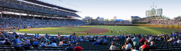 Jon Lester Photograph - Chicago Cubs Pregame Time Panorama by Thomas Woolworth