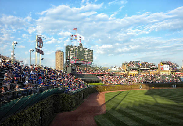 Jon Lester Photograph - Chicago Cubs Scoreboard 03 by Thomas Woolworth