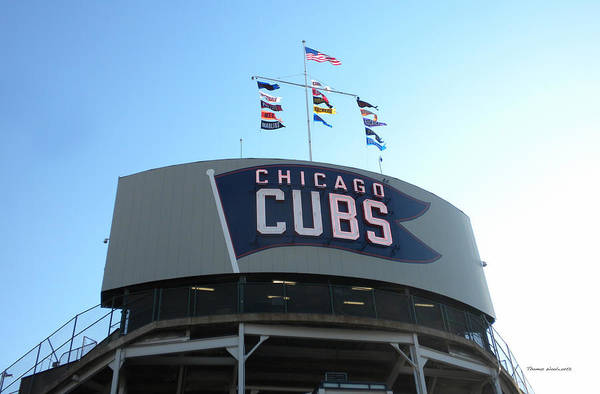 Jon Lester Photograph - Chicago Cubs Signage by Thomas Woolworth