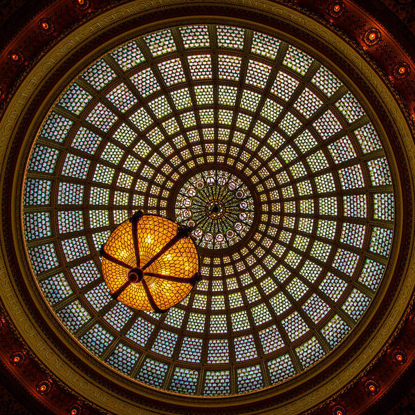 Michigan Ave Photograph - Chicago Cultural Center Dome by Mike Burgquist