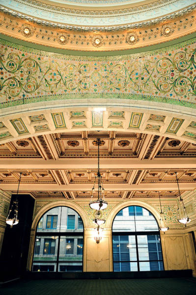 Photograph - Chicago Cultural Center  by Songquan Deng