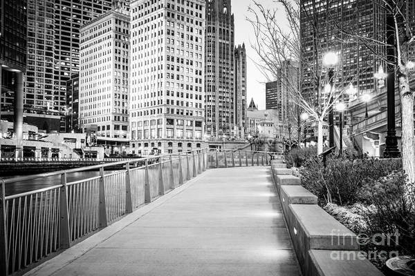 Wall Art - Photograph - Chicago Downtown City Riverwalk by Paul Velgos