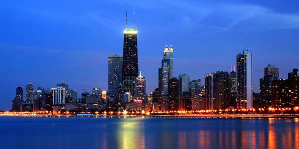 Photograph - Chicago Dusk Skyline Hancock by Patrick Malon