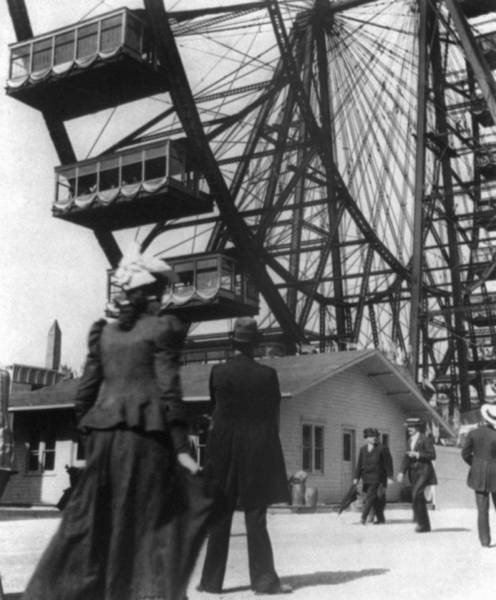 Wall Art - Photograph - Chicago Ferris Wheel, C1893 by Granger