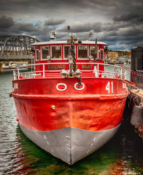 Wall Art - Photograph - Chicago Fire Boat by Paul Freidlund