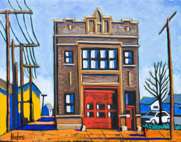 Painting - Chicago Fire Station by Kevin Hughes