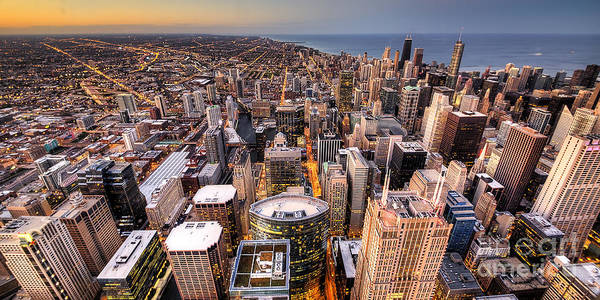 Chicago Skyline Art Photograph - Chicago From Above by Twenty Two North Photography