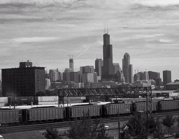 Digital Art - Chicago From Train Yard by Chris Flees