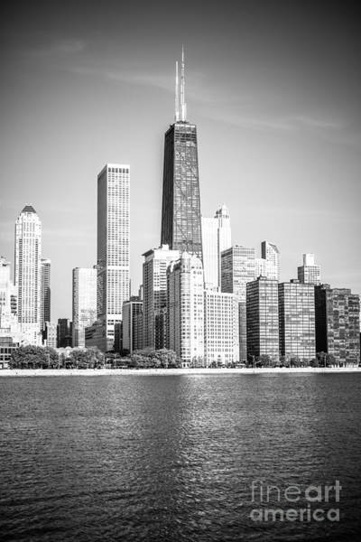 Chicago Hancock Building Black And White Picture Art Print