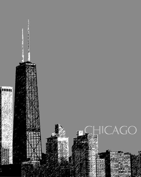 Chicago Hancock Building - Pewter Art Print
