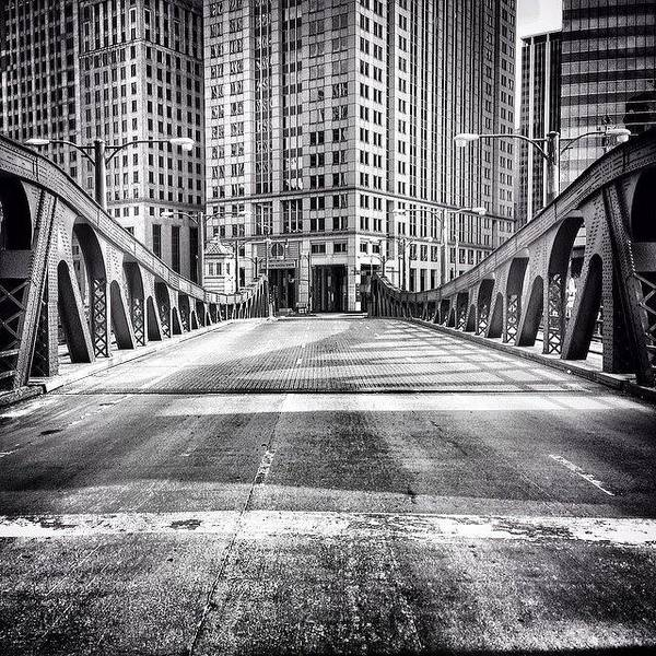 Blackandwhite Wall Art - Photograph - #chicago #hdr #bridge #blackandwhite by Paul Velgos