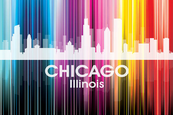 Digital Art - Chicago Il 2 by Angelina Tamez