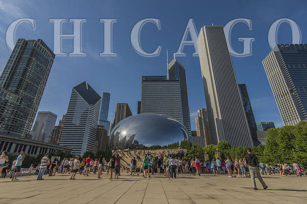 Photograph - Chicago Illinois Bean Letters by David Haskett II