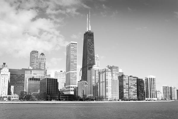 Photograph - Chicago In Black And White by Milena Ilieva