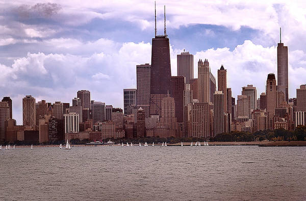 Photograph - Chicago In Early Autumn by Milena Ilieva