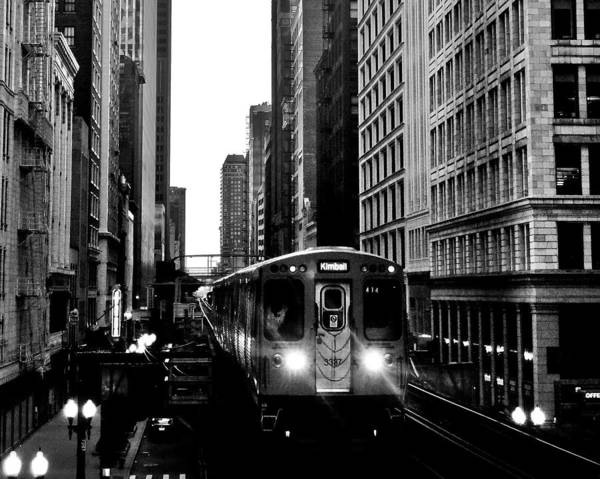 Chicago Black White Wall Art - Photograph - Chicago L Black And White by Benjamin Yeager
