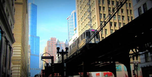 Photograph - Chicago L Train by Anita Burgermeister