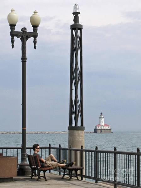 Roller Blades Photograph - Chicago Lights by Ann Horn