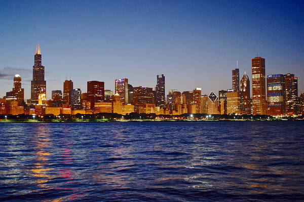 Oprah Wall Art - Photograph - Chicago Lights by Frozen in Time Fine Art Photography