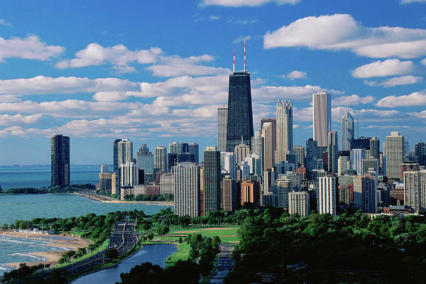 Skyline Drive Photograph - Chicago, Lincoln Park & Diversey Harbor by Panoramic Images
