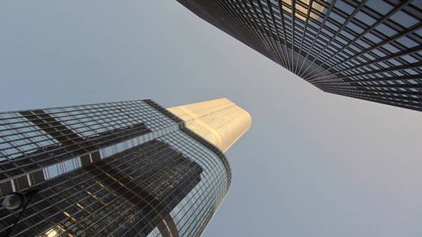 Photograph - Chicago Looking Up 1 by Anita Burgermeister