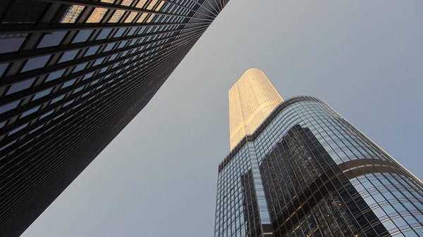 Photograph - Chicago Looking Up 2 by Anita Burgermeister
