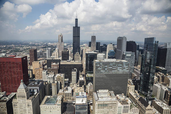 Photograph - Chicago Loop Aerial by Adam Romanowicz