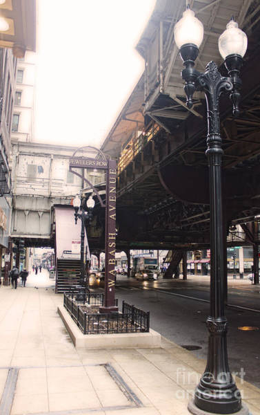 Photograph - Chicago Loop At Wabash Avenue by Gregory Dyer