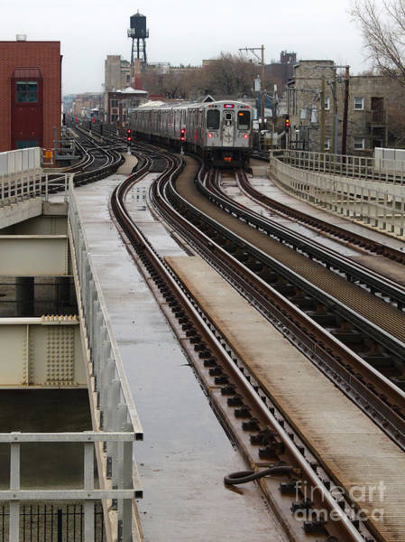 Photograph - Chicago Loop Train by Gregory Dyer