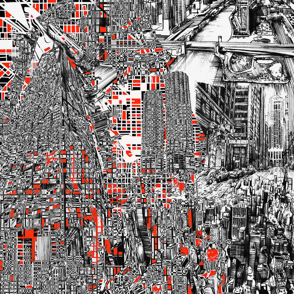 Chicago Skyline Art Digital Art - Chicago Map Abstract by Bekim M