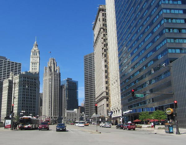 Photograph - Chicago Miracle Mile 2 by Anita Burgermeister